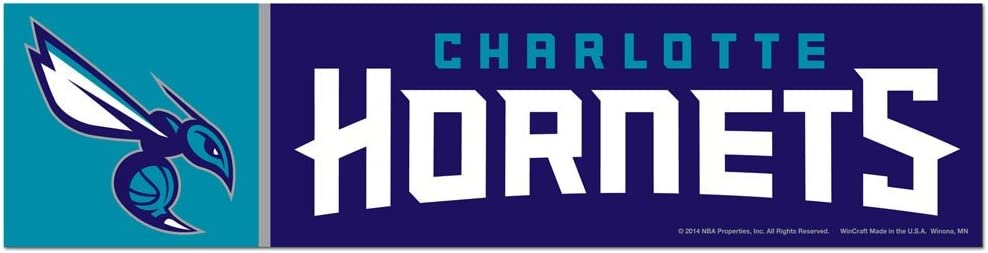 Amazon Com Wincraft Nba Charlotte Hornets Wcr17399014 Bumper Strip 3 X 12 Sports Fan Decals Sports Outdoors