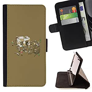 KingStore / Leather Etui en cuir / Samsung Galaxy S4 Mini i9190 / Funny Mexican Party