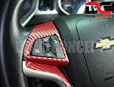 Camaro RED Carbon Fiber Full Steering Wheel Accent Decal kit cover (2012-2015)