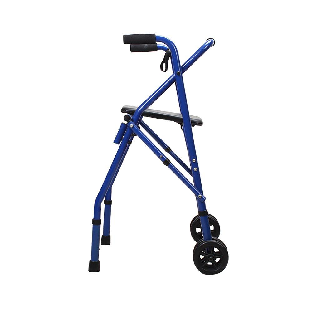 店舗良い ウォーカー助手スタンドアップラック/下肢のウォーカー/四足の松葉杖歩行フレームアルミニウム合金ウォーカープッシュウォーカー調節可能な高さ折り畳み式シート   B07KZNQYN5, 羽生市:d305d0ea --- a0267596.xsph.ru