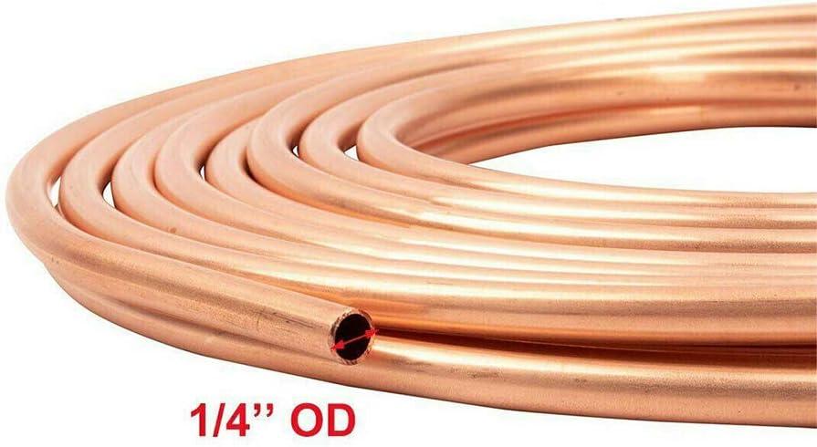 Almabner 1//4 Inch OD Brake Line Tubing,25 Foot Coil Copper Brake Line Tubing,Car Accessories