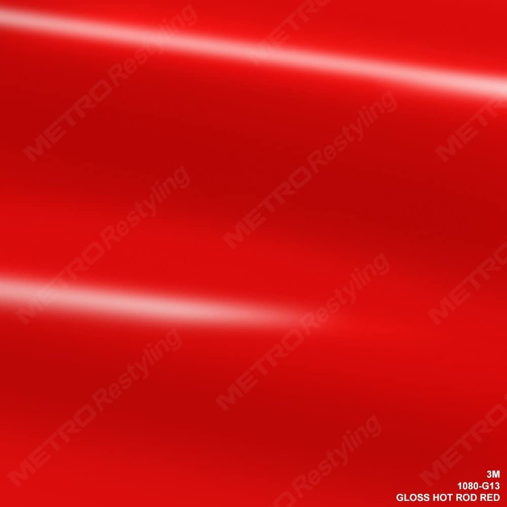 3M 2080 G13 Gloss HOT Rod RED 5ft x 1ft (5 Sq/ft) Car Wrap Vinyl Film
