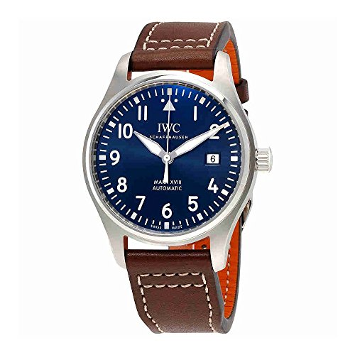 IWC Men's Quartz Stainless Steel Watch, Color:Brown (Model: IW327004)