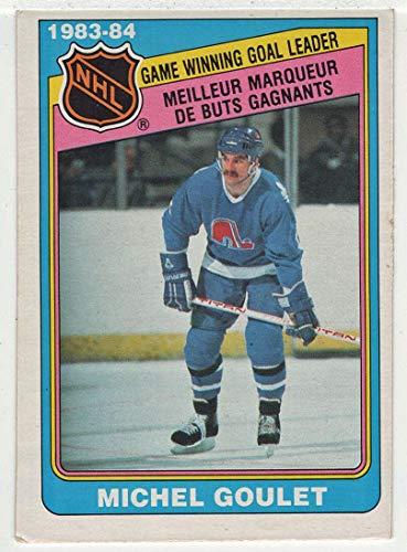Michel Goulet (Hockey Card) 1984-85 O-Pee-Chee # 384 NM/MT