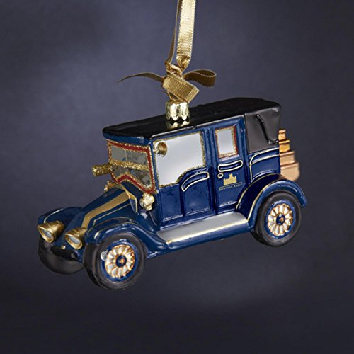 Kurt Adler 5.25'' Downton Abbey Antique Style Lord Grantham's 1911 Blue Renault Glass Car Christmas Ornament by Kurt Adler
