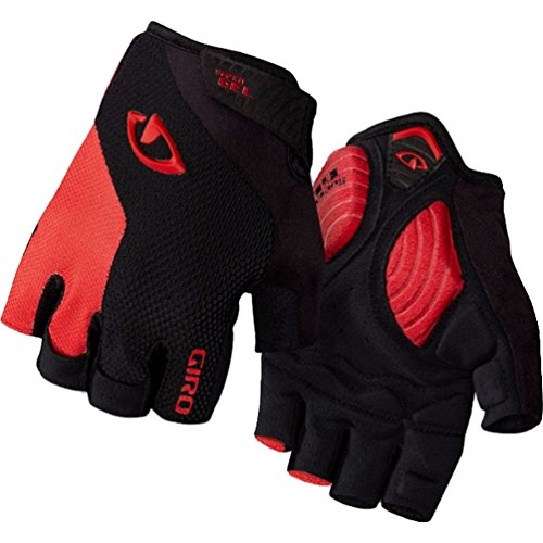 (Giro Strade Dure SG Cycling Gloves Black/Bright Red Large)
