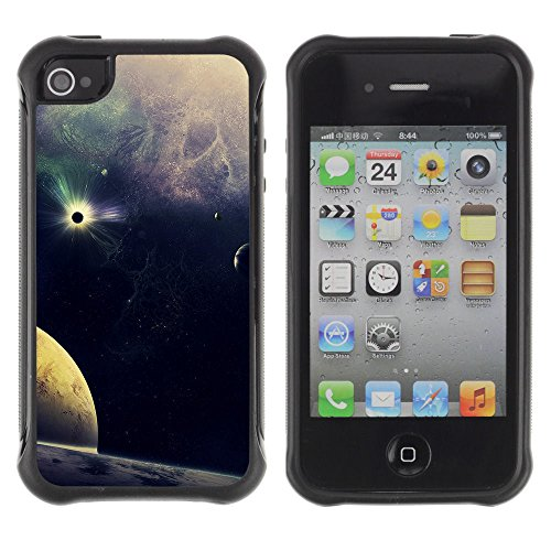 Apple Iphone 4 / 4S - Stars Planets Ost Blue Art Nature