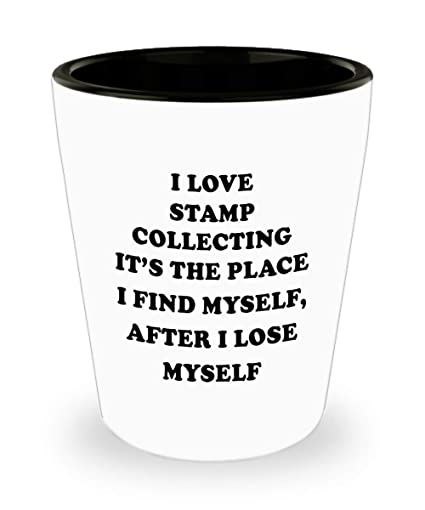 Amazon.com   Collector Drinking Gifts - Shotglass, Thoughtful Stamp Collecting Funny Shot Glass, Perfect For Party, Hobbyist/Enthusiasts: Shot Glasses