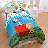 The Peanuts Movie Twin Sized 4 Piece Bedding Set - Comforter and Sheet Set