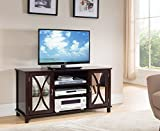 Kings Brand Furniture TV Stand Storage Console, Mirrored Doors - Best Reviews Guide