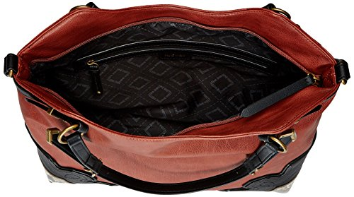 New Nine Tote West60437757 Saddle black multi Dorbra Donna natural I1r7Iq5