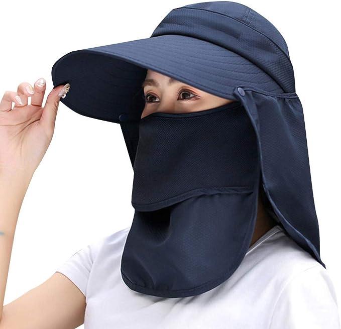fiosoji Sombrero de Playa, Viseras Mujer ala Ancha, Gorras de ...