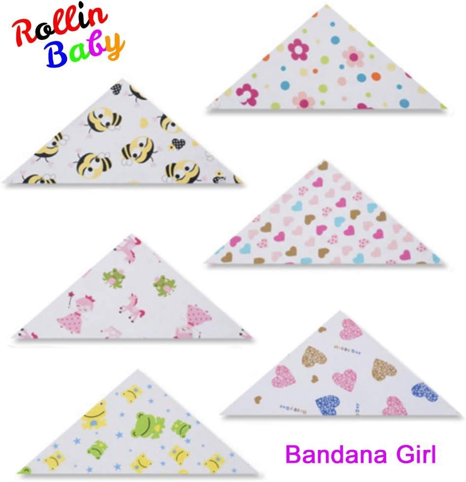 antibaba 100/% algodon organico pa/ñuelo ROLLIN baberos bebe para ni/ña bufanda bandana bebe impermeables babero bebe denticion de regalos originales para bebes recien nacidos