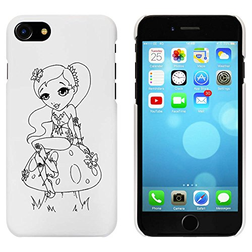 Blanc 'Fée sur a Toadstool' étui / housse pour iPhone 7 (MC00073576)