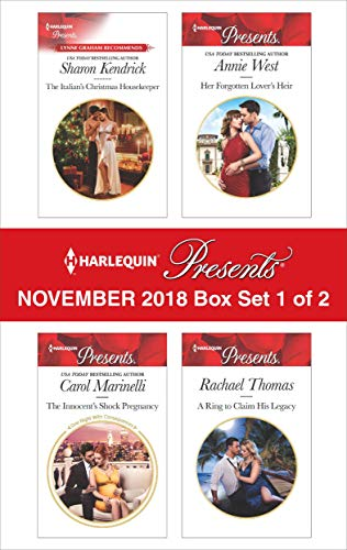 - Harlequin Presents November 2018 - Box Set 1 of 2: The Italian's Christmas Housekeeper\The Innocent's Shock Pregnancy\Her Forgotten Lover's Heir\A Ring to Claim His Legacy