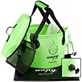 wapy Collapsible Water Bucket - Durable Portable Folding...