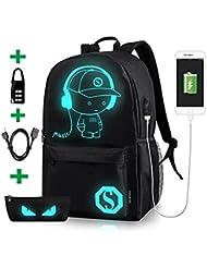 Luminous School Backpack,Horsky Anime Cartoon Music Boy Lightweight Shoulder Laptop Travel Bag Daypack College...