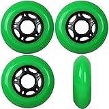 Player's Choice OUTDOOR Inline Skate Wheels ASPHALT Formula 80MM 89a GREEN x4