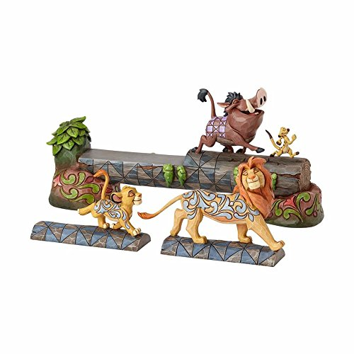 (Enesco Jim Shore Disney Traditions The Lion King Simba, Timon, and Pumba Stone Resin Figurine, 7.5