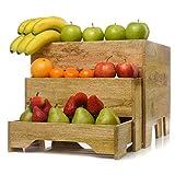 IMPULSE! Wooden Nesting Crates Wide, 3 piece storage crates
