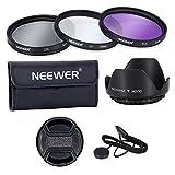 Neewer 52MM Lens Filter Accessory Kit:UV, CPL, FLD and Lens Hood for NIKON D7100 D7000 D5200 D5100 D5000 D3300 D3200 D3100 D3000 D90 D80 DSLR Cameras
