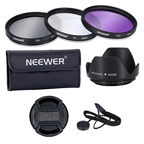Neewer 52MM Lens Filter Accessory Kit:UV, CPL, ()