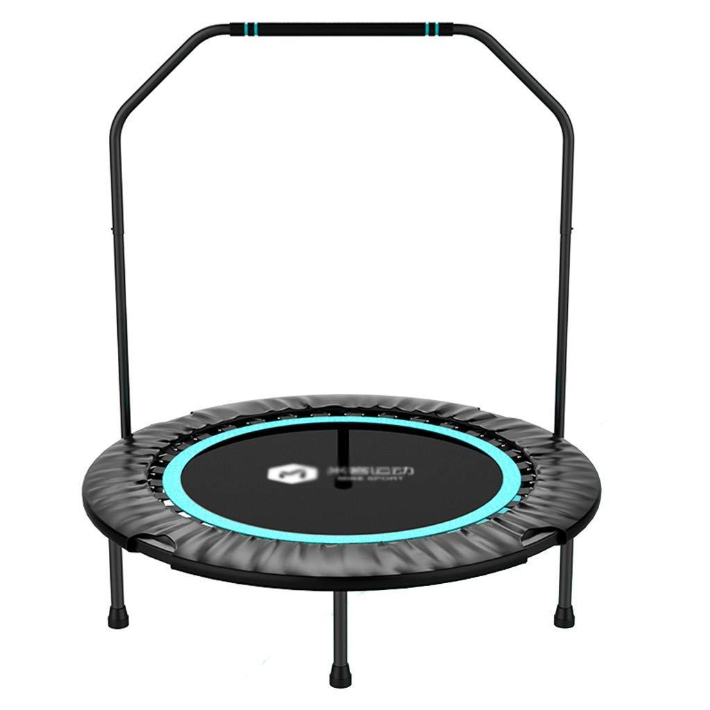 Trampoline Erwachsene Indoor-Haushaltstrampolin Faltbares Armlehnen Kann 200 kg tragen (Farbe : Blau, Größe : 101  115cm)