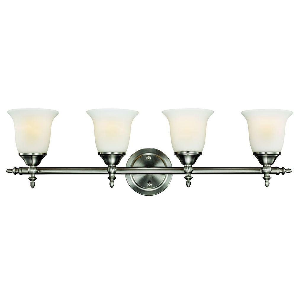 Hampton bay 4 light vanity fixture ogelthorpe amazon com