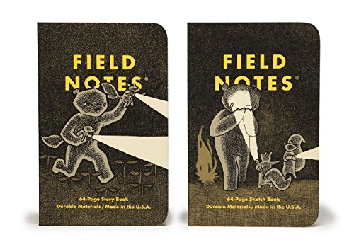 Field Notes Haxley An Illustrated Ruled Story Book and a Sketch Book (3.5x5.5-Inch) (Felt Sundance)