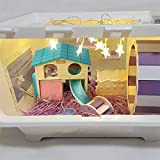 kathson Pet Small Animal Hideout Hamster House with