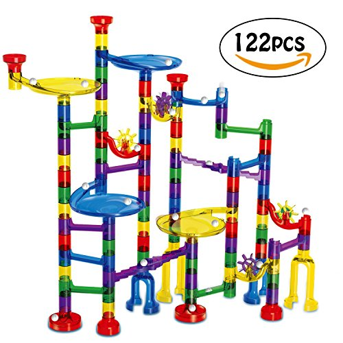 Discount AFALA Marble Run Set 122 Pcs Marble STEM Toys,Marble Game Learning Educational Construction Building Blocks for Kids