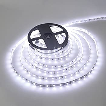 Amazon le 164ft led flexible light strip 300 units smd 2835 wentop waterproof led strip lights smd 3528 164 ft 5m 300leds 60ledsm white flexible tape lighting tape lights in dc jack for boats bathroom mirror aloadofball Gallery