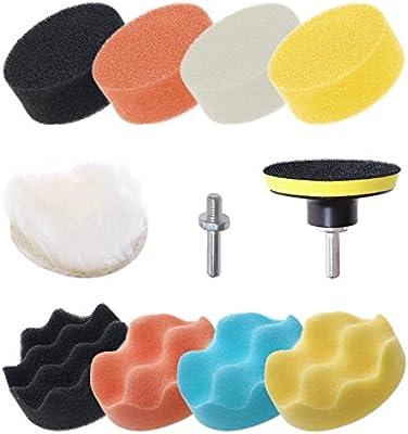 Mini Skater 11 Pcs 3 inch Car Foam Polishing Drill Buffer Compound Kit Buffing