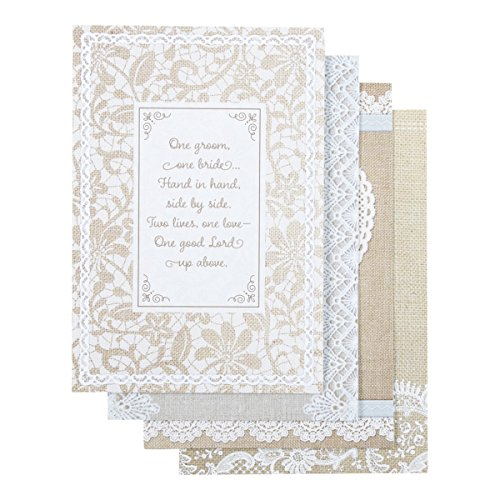 DaySpring Wedding Shower Boxed Greeting Cards w Embossed Envelopes - Blessings, 12 Count (77556)