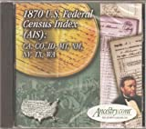 1870 U.S. Federal Census Index (AIS): CA, CO, ID, MT, NM, NV, TX, WA