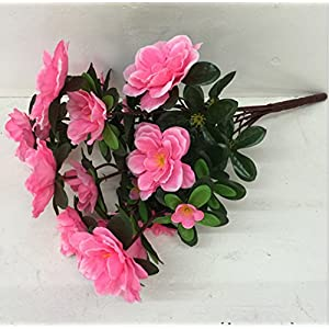 Skyseen 5PCS Artificial Azalea Flower Fake Rhododendron Simsii for Home Decoration,Pink 61