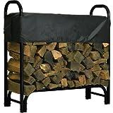 Roughneck Covered Firewood Rack - 4ft.L, Model# 90350