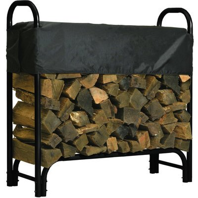 Roughneck Covered Firewood Rack - 4ft.L, Model# 90350 by Roughneck Logging