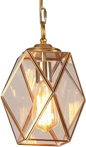 TABLIGHT Rhomb Brass Metal with 1-Light Pendant Light Hanging Lantern