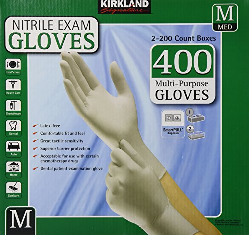 Kirkland Signature Nitrile Exam Gloves, Size Med. 200-Count - Arrivals New Costco