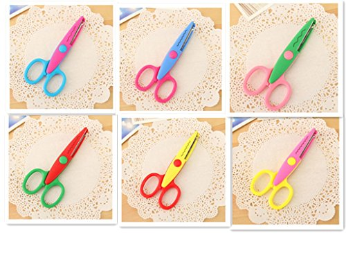 sors Paper Edging Scissors for Teachers, Students, DIY,Art&Crafts, Scrapbooking,Kids Design,6-Pack,Assortment (Artcraft Scrapbooking)