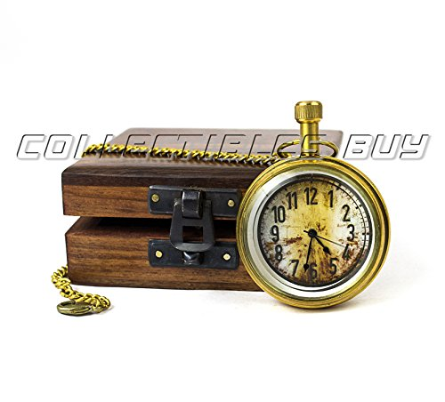 Vintage Small Pocket Clock With Solid Wooden Box Maritime Watch Gift Unique Clocks - Handmade Collectibles Buy Solid Pocket Watch
