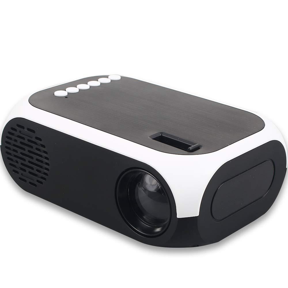 Hanbaili 4K 3D 1080P HDプロジェクター 4K 3D HD スマートプロジェクター ミニLED BLJ-111 スマートポータブル 1080P AV/USB/HDMI ホームシネマ ホワイト B07KSC8RK5 ホワイト