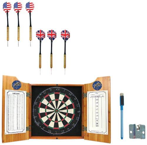 NCAA United States Naval Academy Wood Dart Cabinet Set