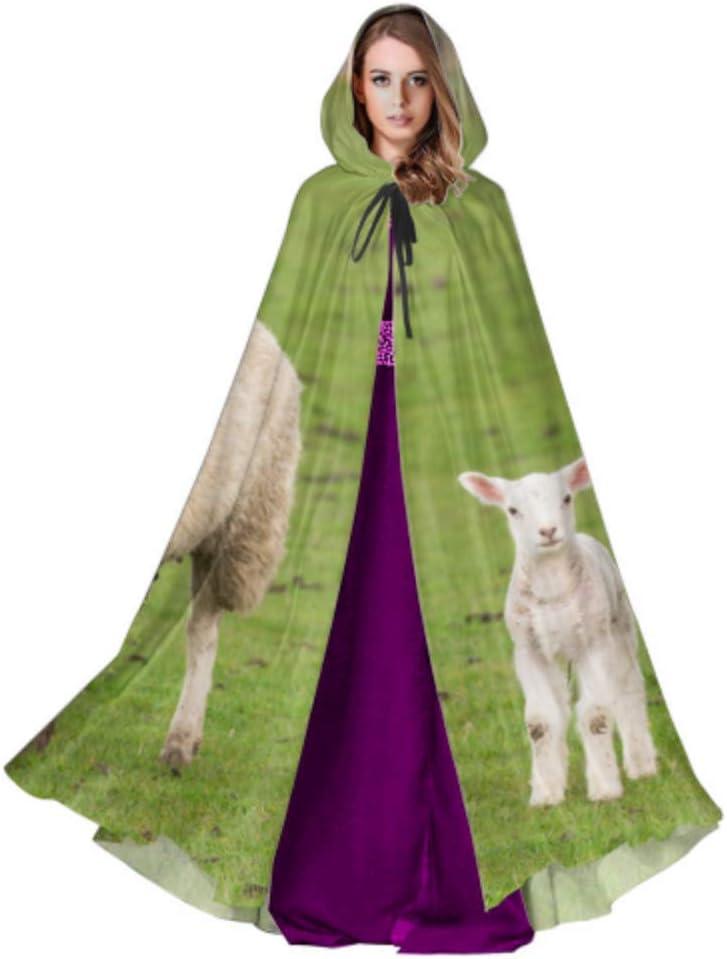 Yushg Una Oveja en la Pradera con noviembre Sun Girls Cloak Cape ...