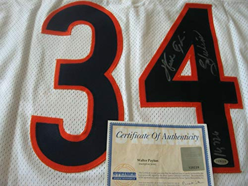 (Autographed Walter Payton Jersey - Away Certified - Steiner Sports Certified - Autographed NFL Jerseys)