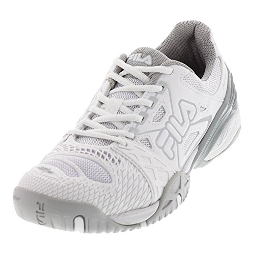 Pink Metallic Pennant Shoe Knockout Women's White Delirium Tennis Purple White Silver Cage Fila White x78BRqwYx