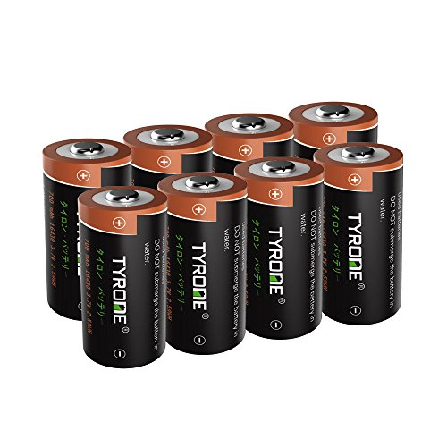 RCR123A Rechargeable Batteries Compatible Arlo Wireless CAM [ 8 Pack 3.7V Li-ion CR123A ], Arlo Batteries Rechargeable, Tyrone CR123A Rechargeable Battery Compatible Flashlight