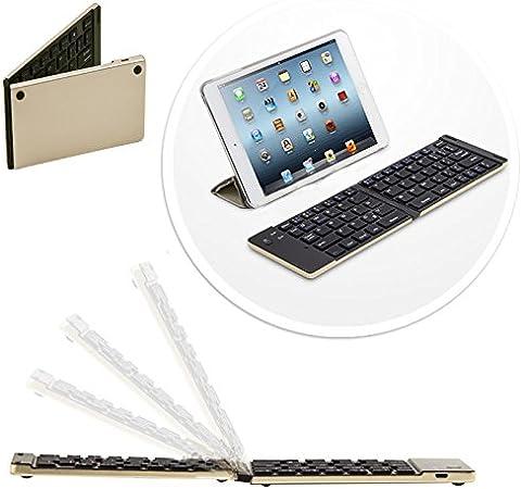 Plegable Inalámbrica Bluetooth QWERTY Keyboard Teclado para ...