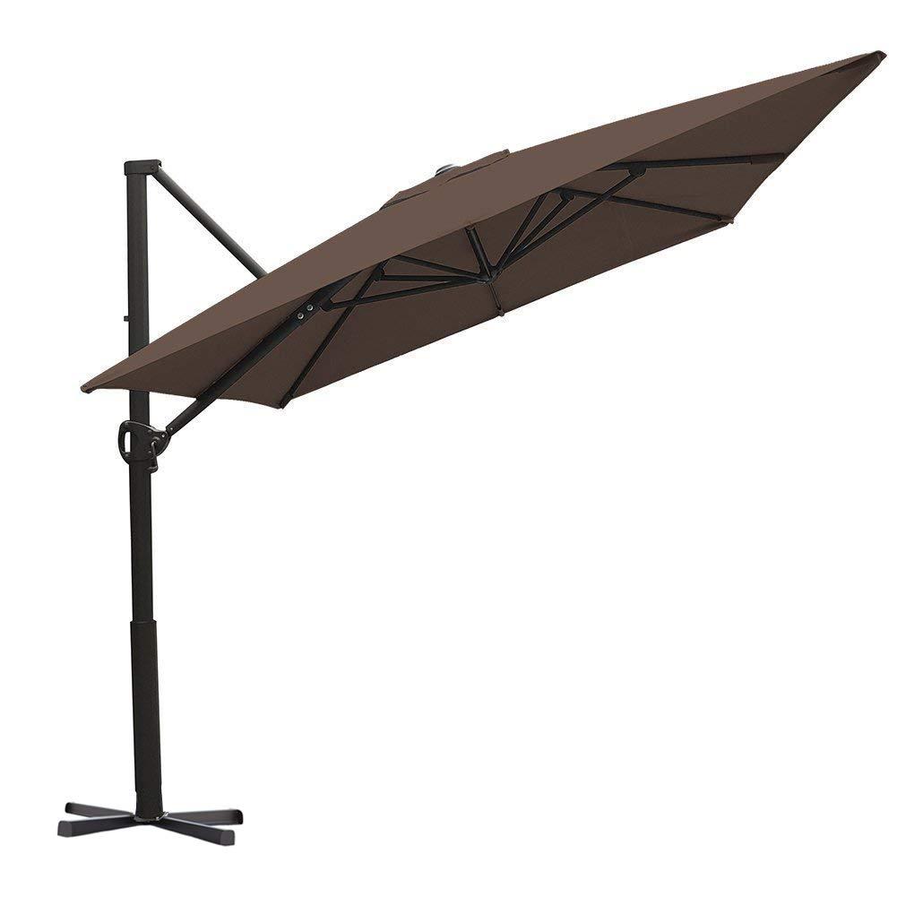 Amazon Com Abba Patio Rectangular Offset Cantilever Umbrella